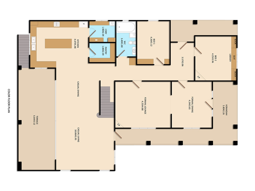 After-Colored Floor Plan