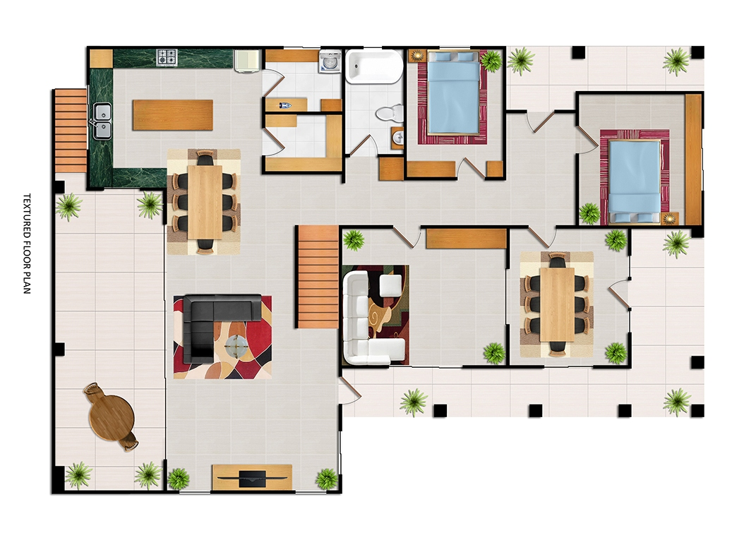 After-Textured Floor Plan